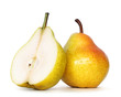 pear over white background, clipping path