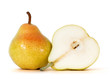 fresh pear over white background, clipping path