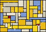 mondrian inspired color background, vector eps 10 poster