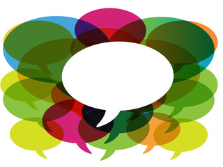 Talk in colors speech bubbles.social media.