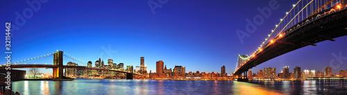 New York City Manhattan panorama at dusk