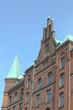 Fassade eines alten Kontorhauses