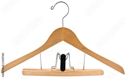 cintre bois avec pince pour jupe ou pantalon de unclesam photo libre de droits 32117601 sur. Black Bedroom Furniture Sets. Home Design Ideas