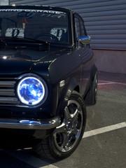 Sports car retro old Japanese night shot