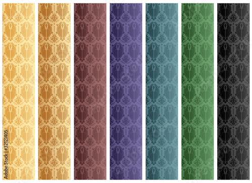 Set of Seamless Wallpaper Stripes