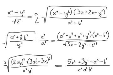 Algebra doodle illustration