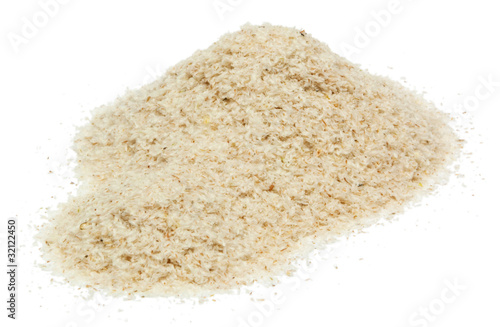 Psyllium isolated on white