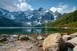 canvas print picture - Polish Tatra mountains Morskie Oko lake