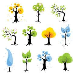 Set  trees - seasons