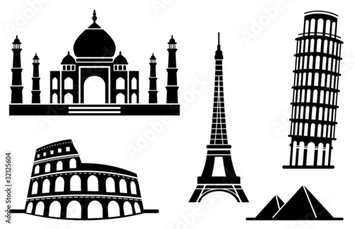 Icons of architectural monuments