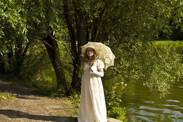 Lady in white