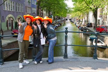 turiste ad Amsterdam, festa della Regina