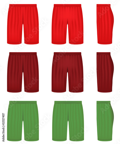 Vector shorts - three different colors