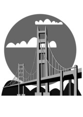 Golden Gate Bridge - vector
