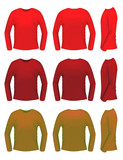 Men t-shirt templates with long sleeves