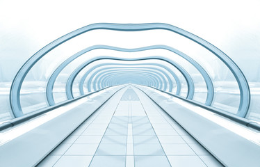 blue spacious corridor