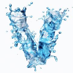 water with ice alphabet