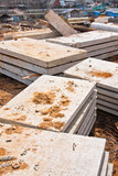Stacks of concrete slabs poster