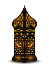 Intricate arabic lantern for eid or ramadan celebration