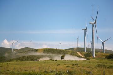 Rally in fattoria eolica in Sardegna