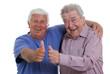 Senioren heben den Daumen