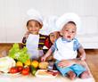 Three little cooks