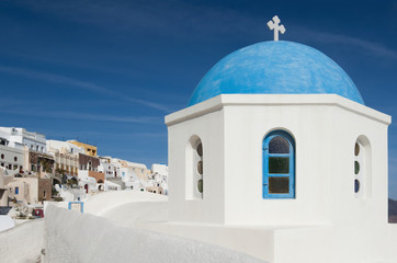 Greek chapel in Santorini