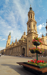 The Pilar Cathedral in Zaragoza