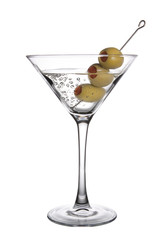 Olive Martini with Bubbles