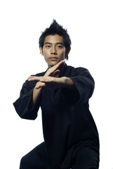 Malay silat martial arts defensive stance