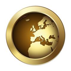 Globe Button – Europe