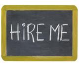 hire me on blackboard poster