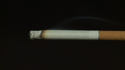 Timelapse video of burning cigarette