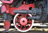 old locomotive red wheel