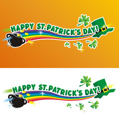Happy St. Patrick's Day greeting text and design elements