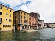 Taxi boat service at Venice 's Grand Canal in Italy