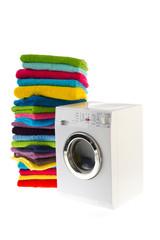 Laundromat with laundry