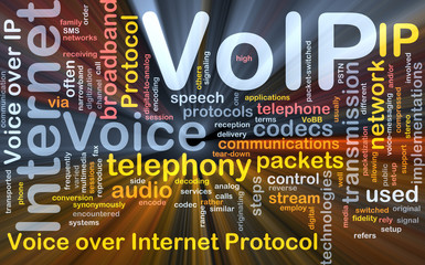 VoIP background concept glowing