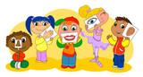 I cinque sensi illustrati dai bambini poster