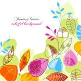 Fantasy leaves colorful background