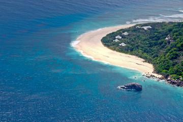 plage des Seychelles vue d'avion
