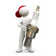 3D Man spark plug