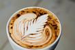 Latte Art - Farnblatt