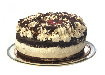 Black Forest Cake. Isolated
