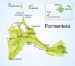 Landkarte von Formentera