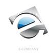 Logo initial letter E 3d # Vector
