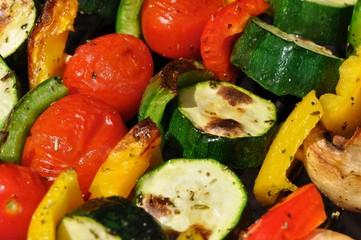 Vegetarisch Grillen: Gemüsespieße