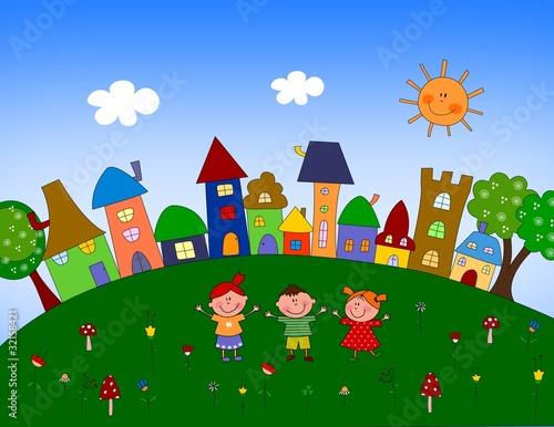 Leinwandbild Motiv Little village