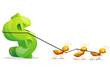 Ants dragging Dollar