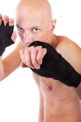 Young confident kick-boxer